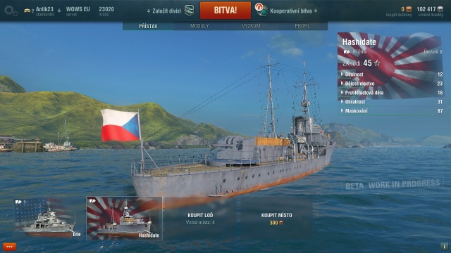 World of Warships CZ vlajky
